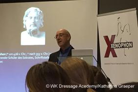 Wolfgang Kutting beim Xenophon-Seminar zur Biomechanik